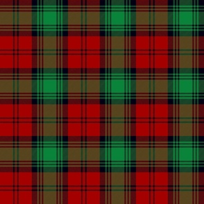 "Lindsay tartan - 6"" red, green, black"
