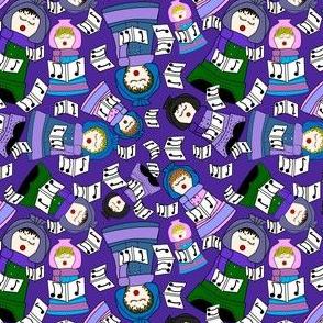 Terra Cotta Christmas Carolers Fabric #2