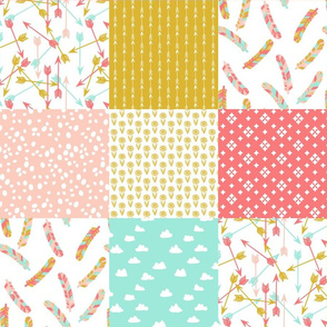 Cheater Quilt Squares // southwest girls nursery pastel
