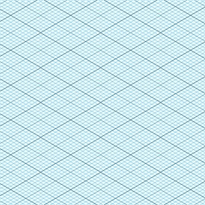 isometric graph : azure blue
