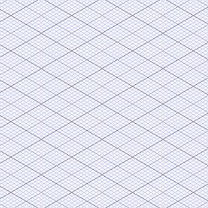 isometric graph : lavender blue