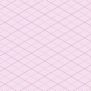 isometric graph : pink