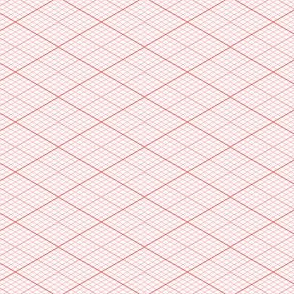 isometric graph : scarlet red