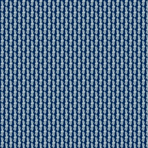 Broken weave on navy