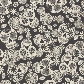 Sugar Skulls - Black & Ivory