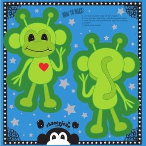 Alien Monkey Cut & Sew Pillow Doll (TS)