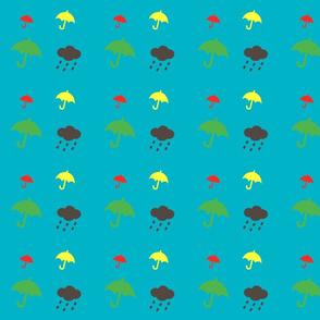 Retro umbrellas