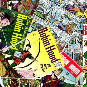 vintage comic book robin hood - LARGE PRINT