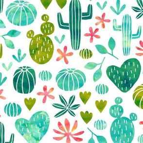 cacti in watercolor (small)
