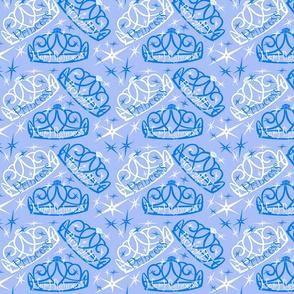 tiara in blue