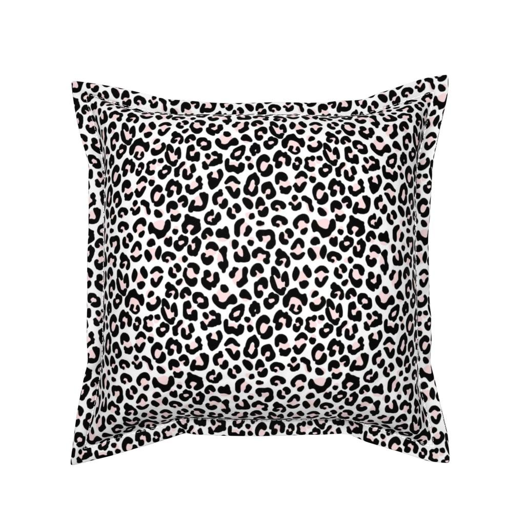 Serama Throw Pillow featuring White Pink Leopard Cheetah by thestylesafari