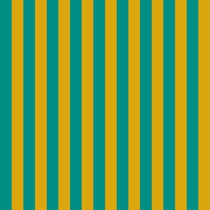 Teal and Gold Egyptian Stripe