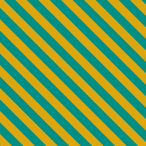 Teal Egyptian Diagonal Stripe