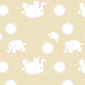 Tossed Elephants Khaki