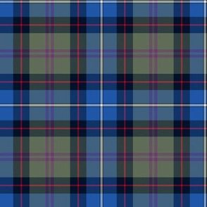 "Birch tartan - 4"" blue/grey"