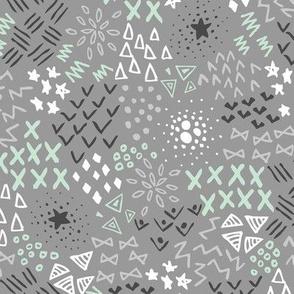 Textura (Gray and Mint)