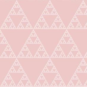 Sierpinski triangle in hyacinth pink