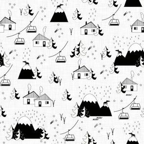Mountain landscape (b&w small)