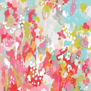pink watercolor ikat - small