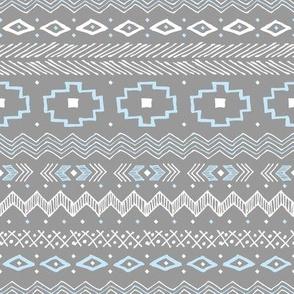 Southwest Stripe (Sliver and Blue)