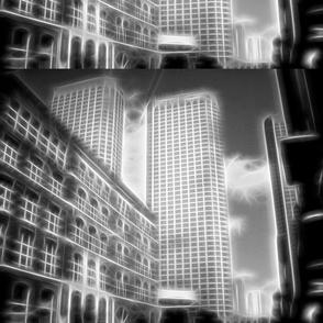 Downtown CHicago Black & White