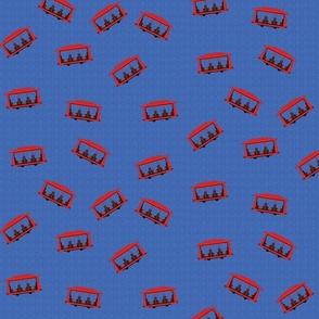 Trolley Pattern Blue