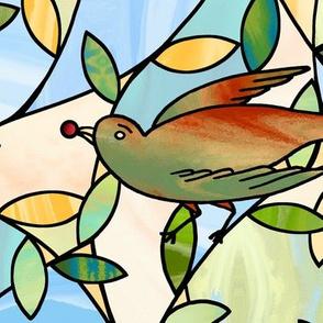 birds on the vines