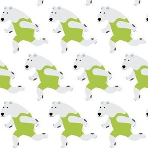 Running Polar Bear Green