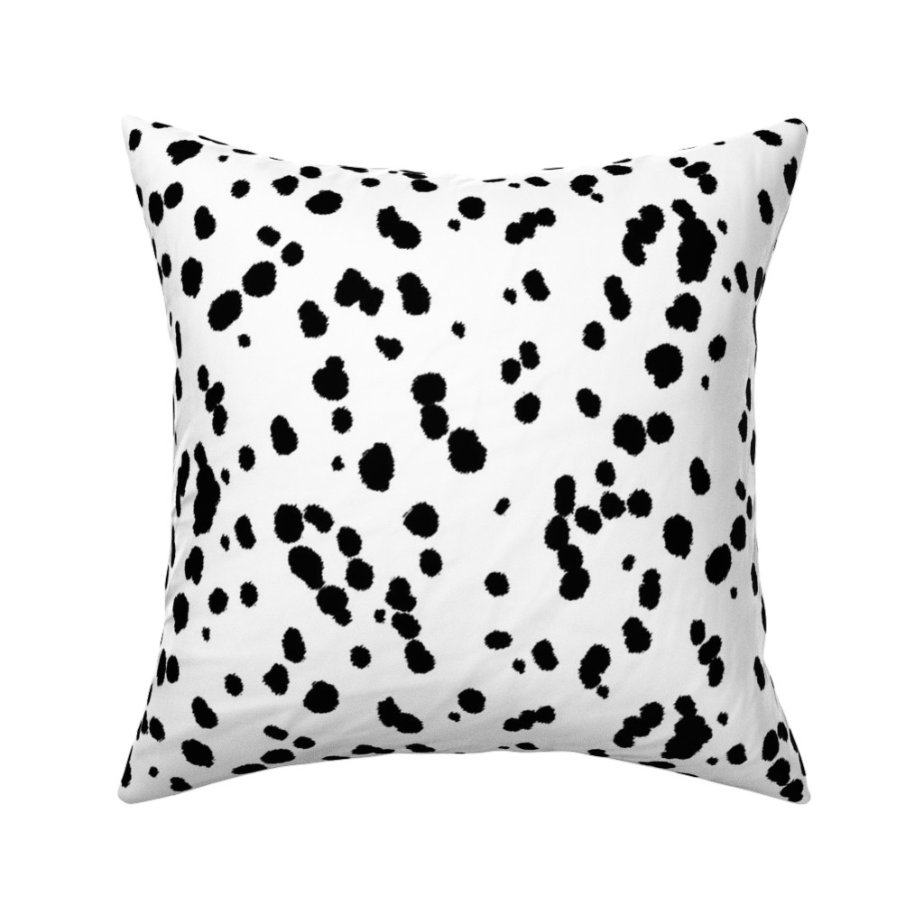 Catalan Throw Pillow featuring Dalmatian Spots by eclectic_house