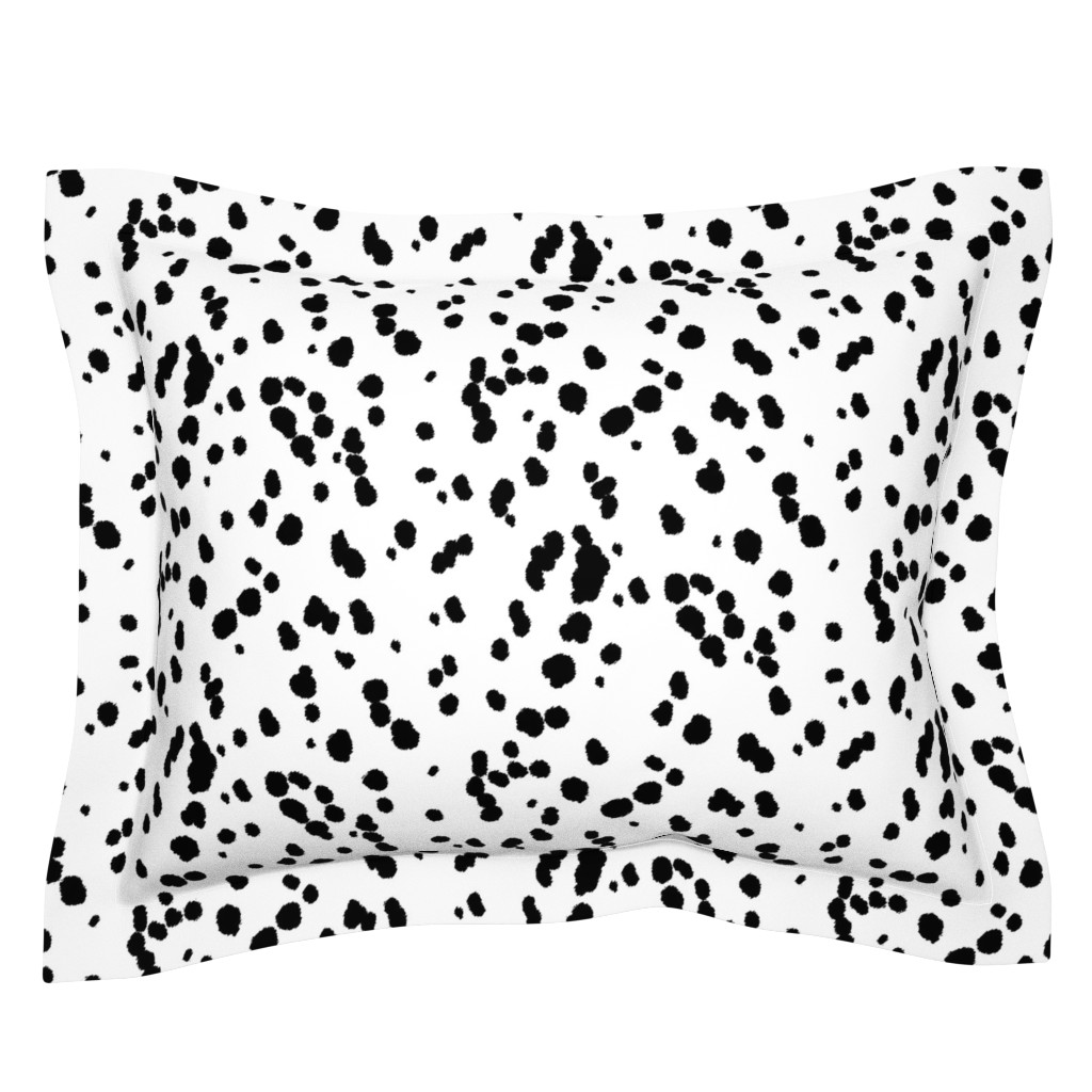 Sebright Pillow Sham featuring Dalmatian Spots by eclectic_house