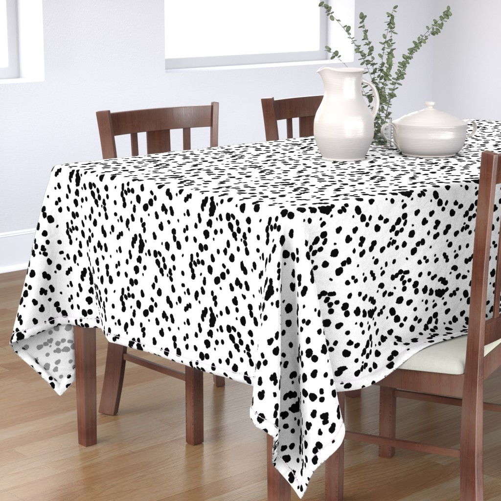 Bantam Rectangular Tablecloth featuring Dalmatian Spots by eclectic_house