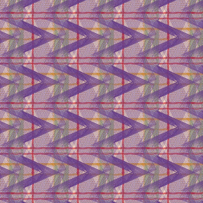 Half Argyle Plaid-purple