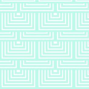 Minty Green Geometric