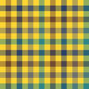 "sunlit forest gingham - 1/2"" yellow"