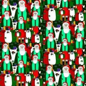 Santa Christmas &  Mistletoe Fabric #10