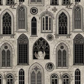 Medieval Gothic Church Windows