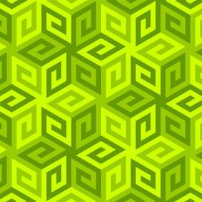 04935278 : greek cube : chartreuse lime green