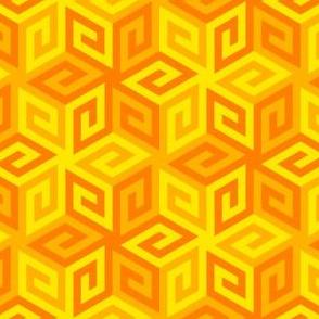 04935350 : greek cube : yellow orange