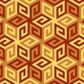 04935356 : greek cube : terracotta