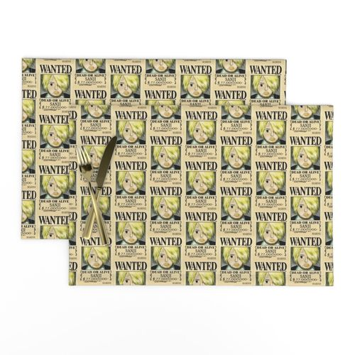 Sanji S Wanted Poster From One Piece Spoonflower