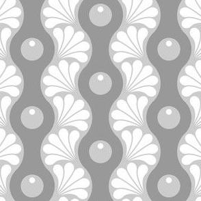 drop splash wavy stripe : grey