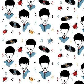 Beatles Moptop Acapella Music Print