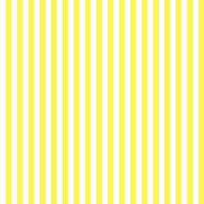 "Lemon Yellow Sailor 1/2"" Thin Stripes"