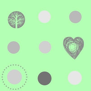 Mint tree dot heart