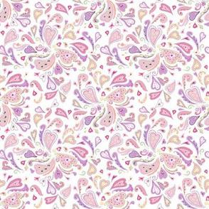 Ditsy Heart Paisley Pattern