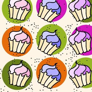 Cupcake Dot Large Cream