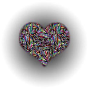 Prismatic colour - heart