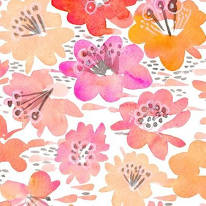 Ombre Mod Watercolor Flower