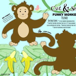 Funky Monkey Plushie - Small