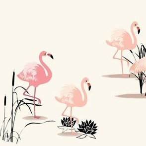 Vintage Flamingo Glam